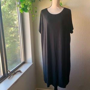Ava & Viv Black T-Shirt Dress